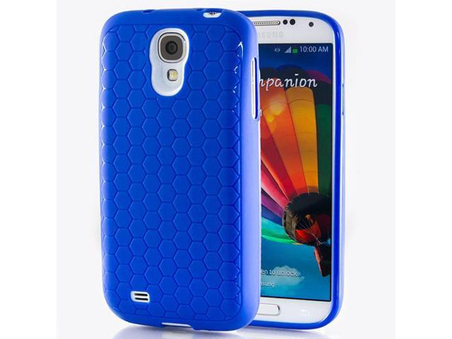 Hyperion Samsung Galaxy S4 Extended Battery HoneyComb Matte TPU Case / Cover - BLUE