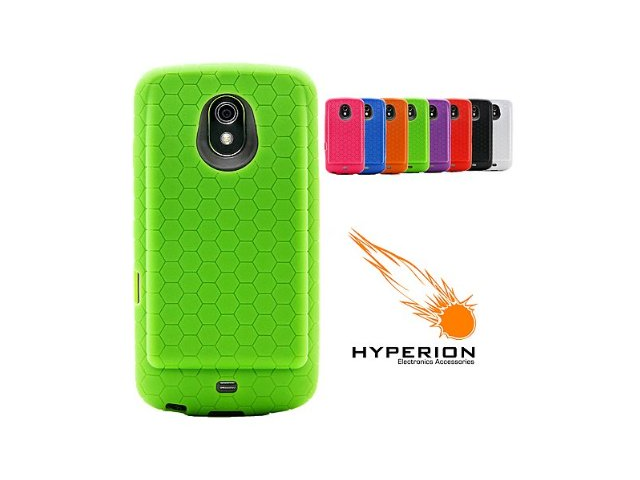 Hyperion Samsung Galaxy Nexus Extended Battery HoneyComb TPU Case Green