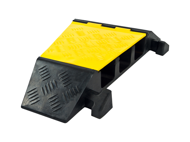 Modular 3-Channel Rubber Cable Ramp Right-Turn Corner Section