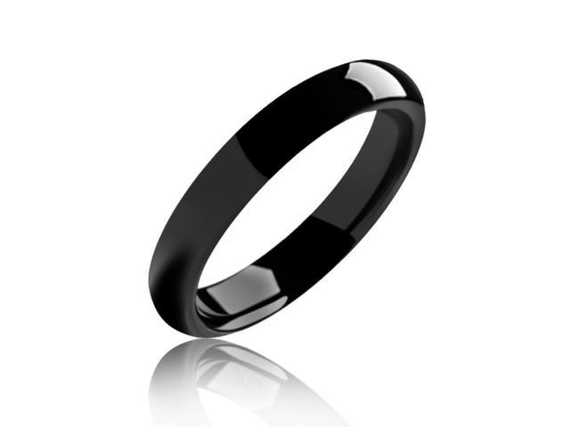 Bling Jewelry 4mm Tungsten Black Unisex Ring