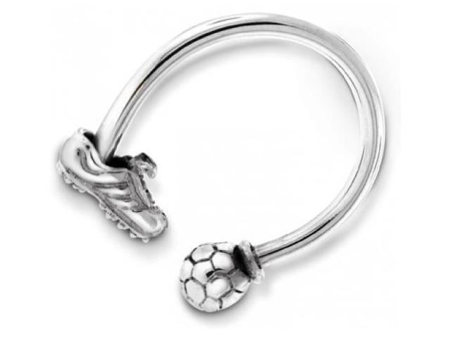 Bling Jewelry Men Sterling Silver Soccer Ball and Shoe Key Ring