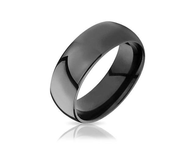 Valentine Gifts Black Tungsten Mens Wedding Band Ring 8mm