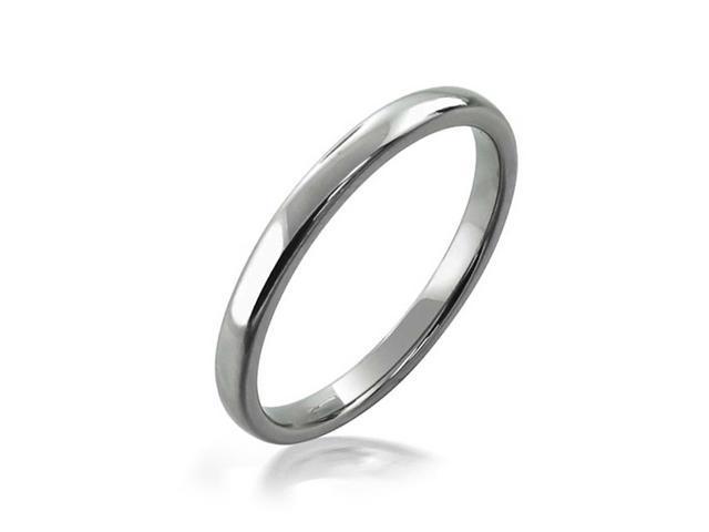 Bling Jewelry High Polish Unisex Tungsten Wedding Ring 2mm
