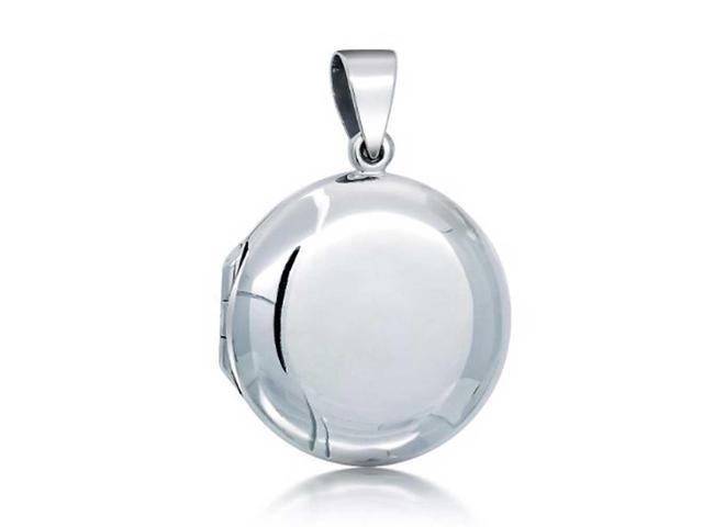 Bling Jewelry Classic Round 925 Silver Locket Pendant Polished Finish