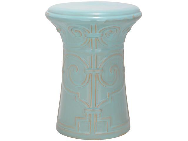 Safavieh Paradise Zoe Light Blue Ceramic Garden Stool
