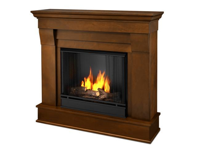Real Flame Chateau Ventless Gel Fireplace in Espresso - 5910-E