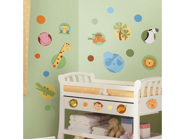 Jungle Animal Polka Dot Peel & Stick Wall Decals