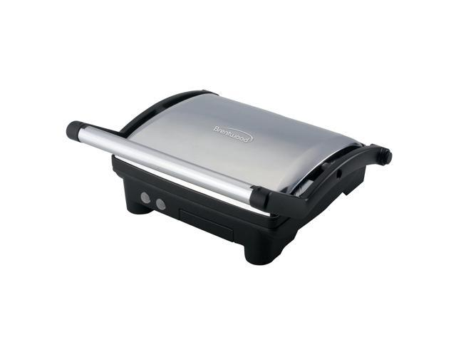 Brentwood TS-650 Contact Grill- Stainless Steel & Black