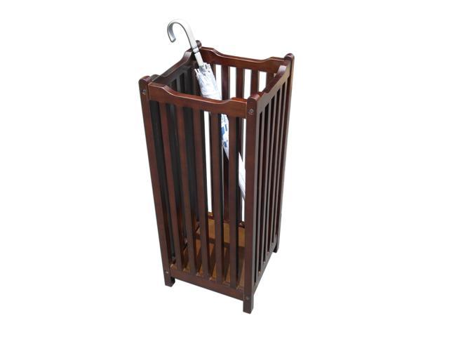 D-Art Collection Visalia Mahogany Wood Umbrella Stand