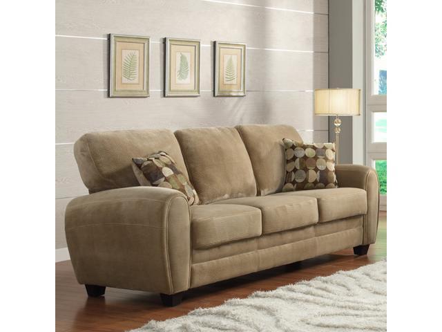 Daventry light brown microfiber sofa neweggcom for Light brown microfiber sectional sofa