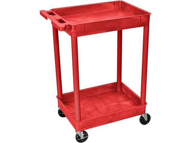 Luxor 2 Shelf Tall Utility Cart
