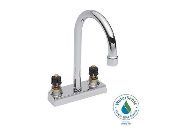 centerset less handles gooseneck chrome bathroom faucet