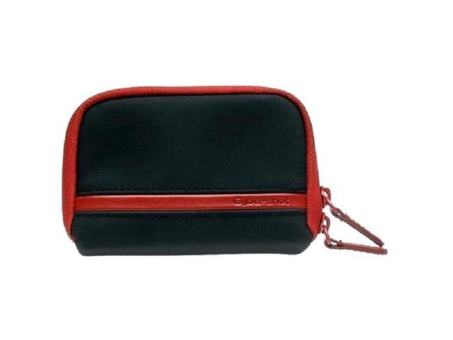 Sony LCS-MDA/R Cyber-Shot Black/ Red Leather Carrying Case