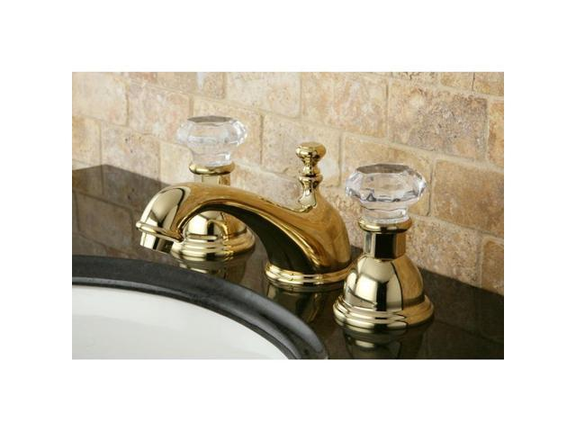 Crystal Handle Polished Brass Widespread Bathroom Faucet Model ES3962WCL