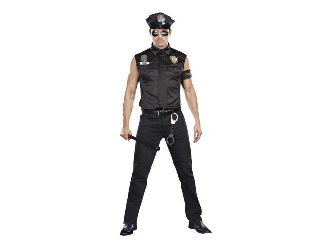 Dream Girl Men's Dirty Cop Officer Ed Banger Costume