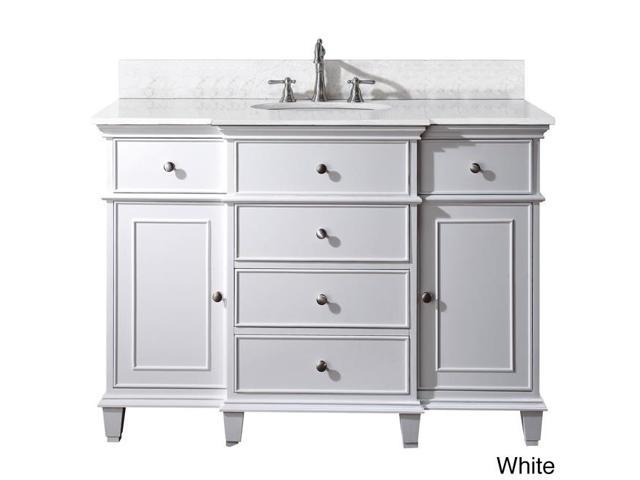 Avanity Windsor 48-inch Single Vanity in White Finish with Sink and Top