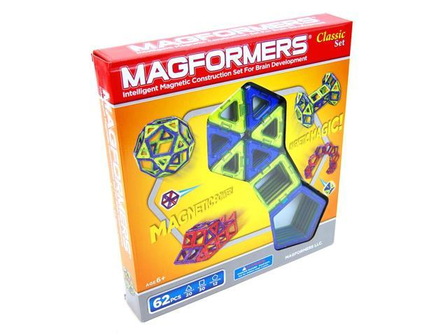 Magformers Classic 62-piece Magnetic Construction Set
