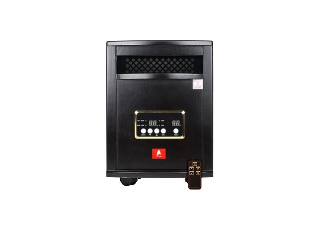 1,000 SQ FT Deluxe Quartz Black Indoor Space Heater with 6 Quartz ...