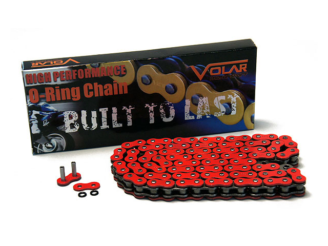 525 x 114 Links O-Ring Motorcycle Chain - Red