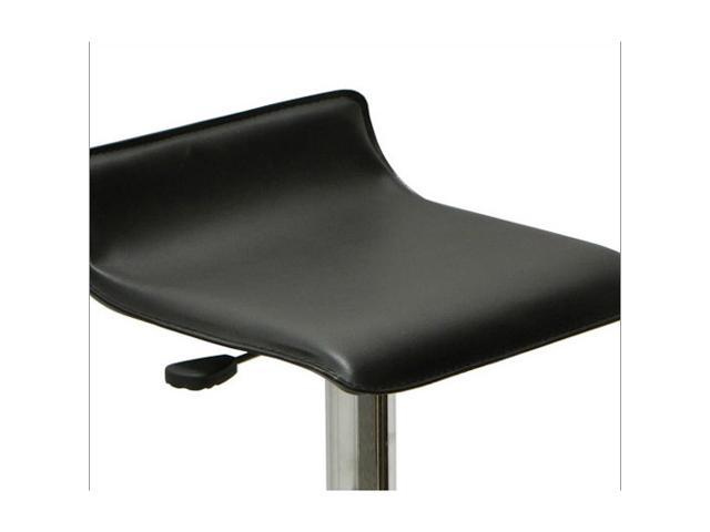 "Vandue Corporation SIGMAPVC-BLK Sigma Contemporary ""Leather"" Adjustable Barstool - Black Licorice"