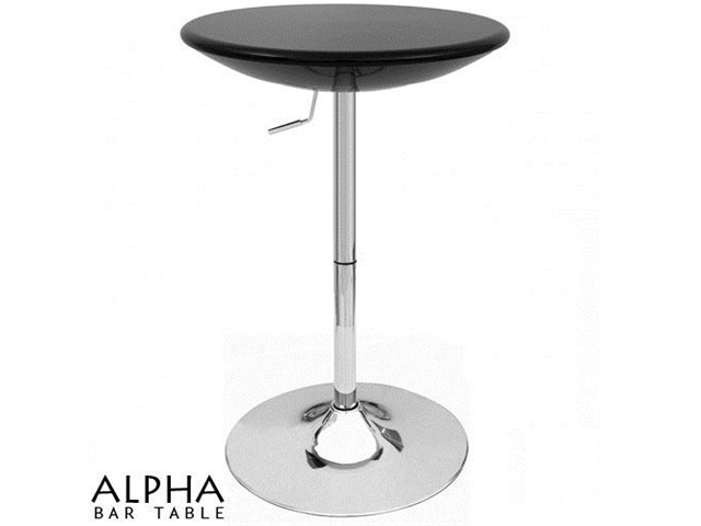 Alpha Contemporary Adjustable Bar Table - Black Licorice