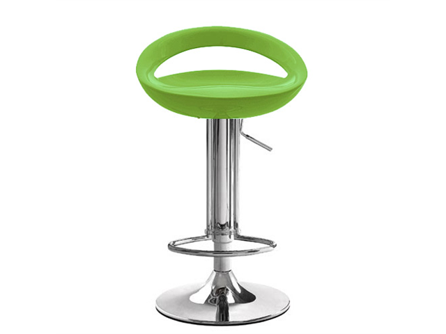 Rho Contemporary Adjustable Barstool - Lime Green