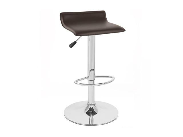 Vandue Corporation SIGMAPVC-BROWN Faux Leather Adjustable Height Swivel Barstool-Coffee Brown