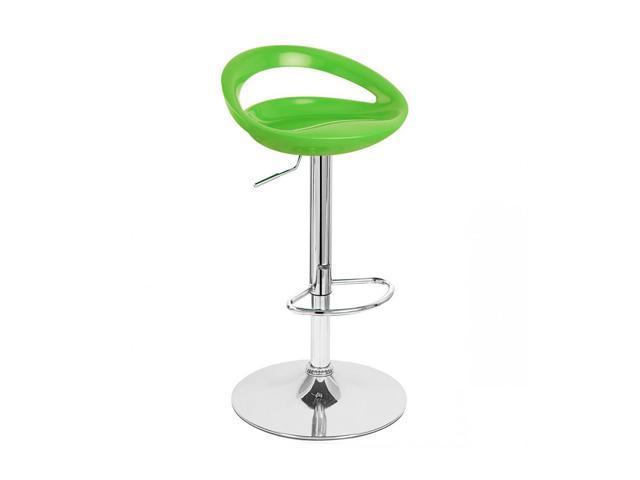 Rho Contemporary Adjustable Barstool - Lime Green