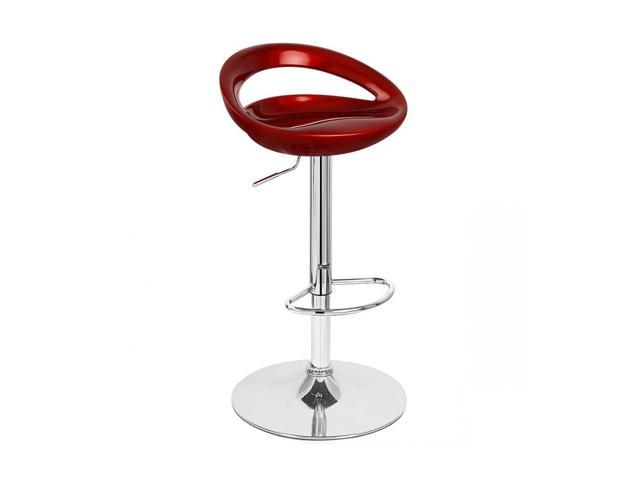 Rho Contemporary Adjustable Barstool - Cabernet Red