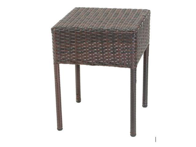 Christopher Knight Home Sadie Brown Wicker Outdoor Accent Table ...