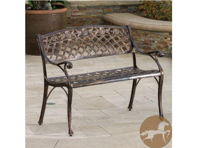 Christopher Knight Home Hamilton Copper Cast Aluminum Outdoor Bench
