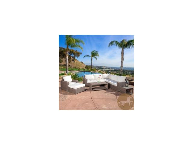 Christopher Knight Home Kingsbay Outdoor 9-piece Wicker Sectional Sofa Set
