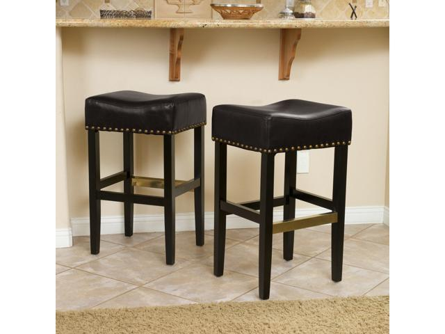 Christopher Knight Home Lisette Backless Black Leather