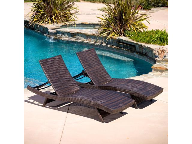 Christopher Knight Home Toscana Outdoor Brown Wicker Lounge Chairs