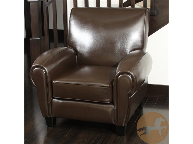Christopher Knight Home 234124 Finley Brown Bonded Leather Club Chair