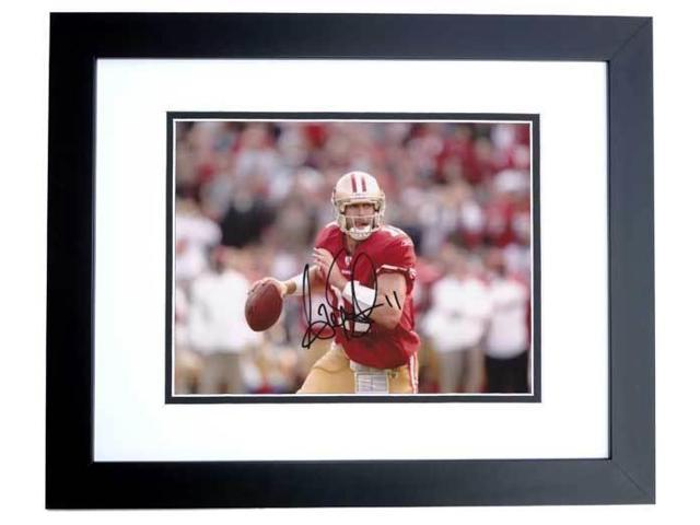 Alex Smith Autographed San Francisco 49Ers 8X10 Photo Black Custom Frame