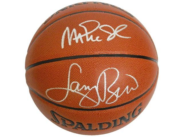 Larry Bird & Magic Johnson Signed Indoor/Outdoor Basketball