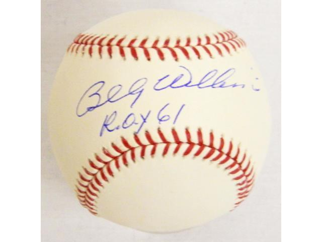 WILBSB105 Billy Williams Signed Official MLB Baseball w