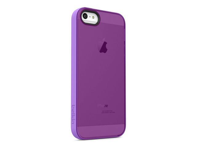 Belkin Grip Candy Sheer Case/Cover for iPhone 5 and 5S Purple/Violet in Retail Packaging