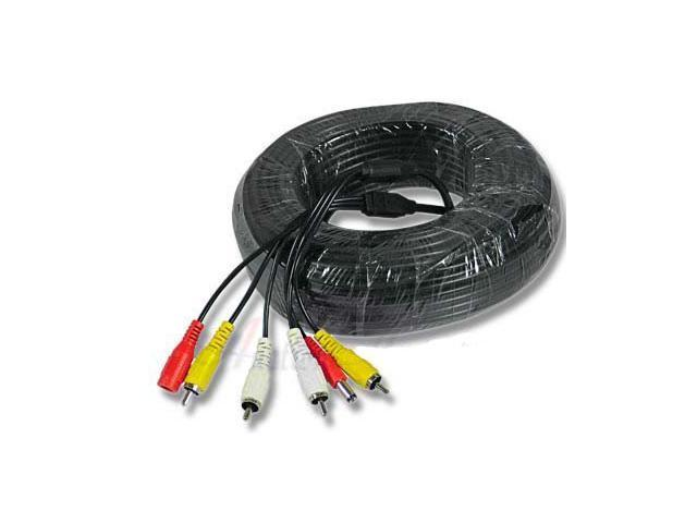 20m BNC RCA Power Cable for CCTV Security Camera and DVR system