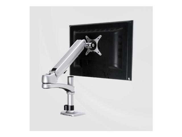 Single LCD Monitor Desktop Mount / Stand, Black Deluxe with Gas Spring for 1 Screen up to 26
