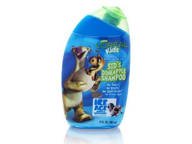 L'Oreal Kids Ice Age Sid's Dineapple Shampoo Extra Gentle 2-In-1 265ml/9.0oz