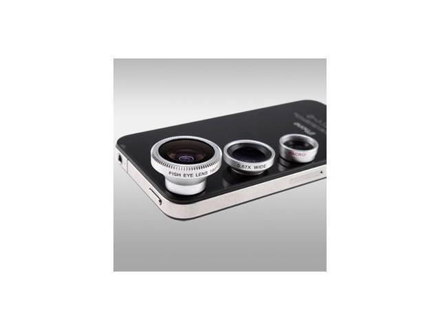 3in1 Detachable Wide Angle + Micro Lens + Fish Eye Lens for iPhone 5 5G 5S 5C 4S Nokia Lumia 920 820 Samsung Galaxy Note 2