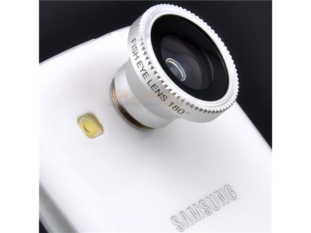 3 in1 Fish Eye Lens + Wide Angle + Micro Lens Camera Kit for Samsung Galaxy S2 S3 S III - OEM