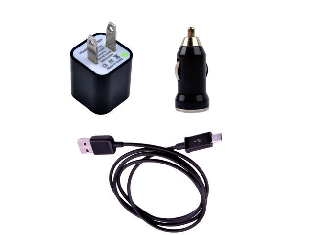 USB Sync Data Cable+Car Charger+AC Charger For Amazon Kindle Fire Tablet Accessory Kit