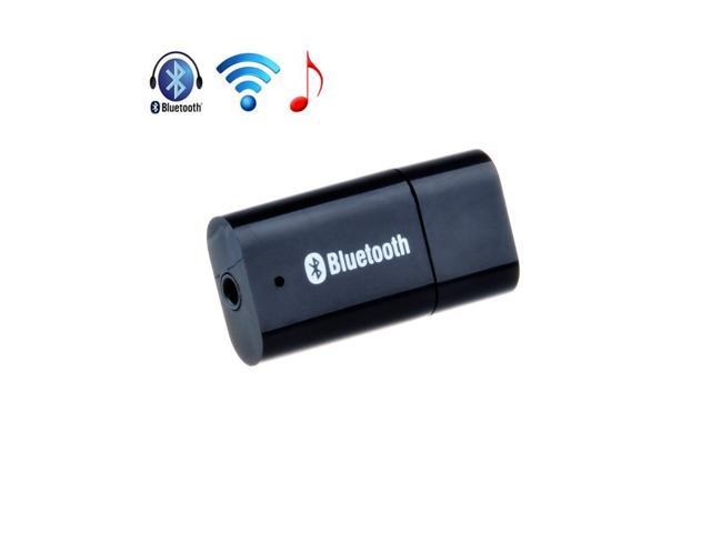 Black Wireless Bluetooth Audio Music Receiver Stereo Output A2DP Adapter For Speaker, Mobile, Tablet, Notebook