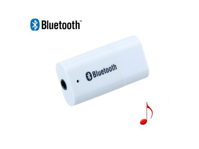 White Wireless Bluetooth Audio Music Receiver Stereo Output A2DP Adapter For Speaker, Mobile, Tablet, Notebook