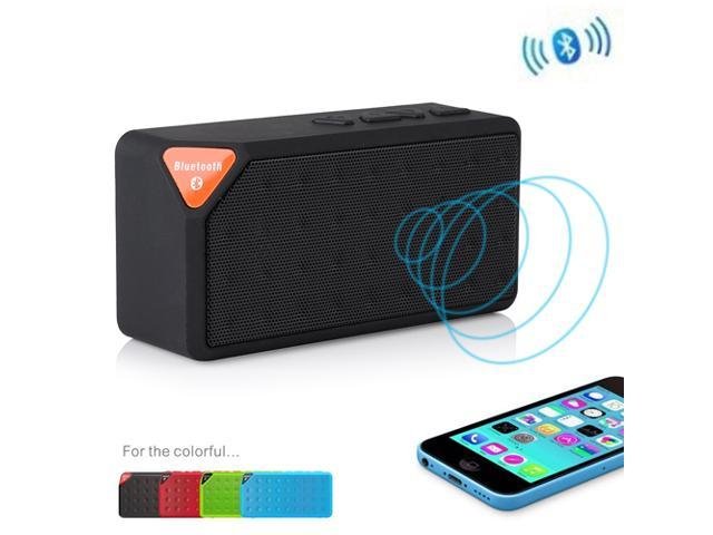 Black Portable Wireless Bluetooth A2DP Stereo Speaker Handsfree Speakers Support TF/USB with Mic For Apple iPhone 4S 5 5S ... - OEM