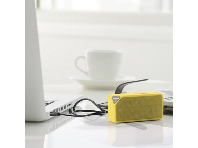 Yellow Portable Wireless Bluetooth A2DP Stereo Speaker Handsfree Speakers Support TF/USB with Mic For Apple iPhone 4S 5 5S ... - OEM