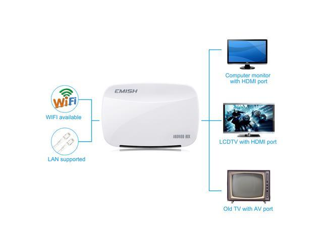 Quad Core Android 4.2.2 Full HD 1080P 1GB/8GB Smart TV Box Network Media Player Support 3D WIFI YOUTUBE Netflix XBMC Skype QQ with Remote Control For Smartphones Tablet PC HDTV etc